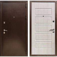 Входная дверь Зетта Экстра 2 Домино (Дуб выбеленный)