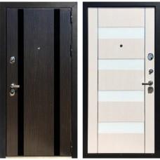Входная дверь Зетта Премьер 100 КБ1 Метро (Венге / Белый венге)