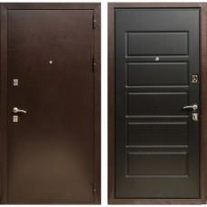 Входная дверь Зетта Экстра 2 Домино (Венге тёмный)
